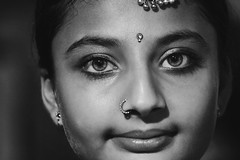 Navratri's beauty #2 (The Crane Dance) Tags: portrait blackandwhite woman india cute girl beautiful biancoenero tamron70300 nikond3100