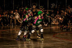 Venus Fly Tramps vs. Chicks Ahoy 2012 (tcrg.media) Tags: rollerderby tramps joemac chicksahoy