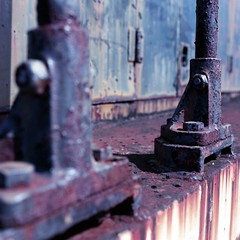konica-PRO-160-10-13-12-100a (Burnt Umber) Tags: hinge travel urban industry 120 mamiya film scale car train mediumformat rust industrial carriage florida miami steel seat tracks engine rusty railway caboose explore bolt commuter boxcar passanger expired rider shaft latch ue urbex allrightsreserved goldcoastrailroadmuseum flurbex rpilla001 sekorc55mmf28n richmondnavalairstation konica160professional