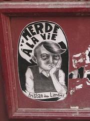 Merde  la vie (The Great Slug) Tags: street streetart paris art tristan des pompidou limbes