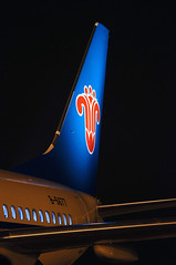 China Southern Airlines' New Boeing 737-81B(WL) B-5677 Tail (rickihuang) Tags: china new light vertical night plane logo airport aircraft aviation tail southern international civil henan cz ng boeing  winglet airlines 800  airliner zhengzhou 737 wl csn cgo       81b          xinzheng zhcc b5677