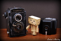 Time machine! (pure_embers) Tags: camera uk cute vintage toy doll time machine mini pure embers danbo boxboy