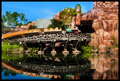 The Wildest Ride in the Wilderness - Magic Kingdom (Explored) (Adam Hansen) Tags: photoshop orlando nikon florida disney adobe rollercoaster waltdisneyworld magickingdom tomsawyerisland frontierland lightroom bigthundermountainrailroad ndfilter d90 disneyphoto disneyphotography