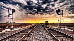 The Track Not Taken (gaganmoorthy) Tags: railroad sunset summer nature clouds train canon rebel high dynamic traintracks tracks stormy robertfrost teenager paths range hdr highdynamicrange darksky exposures theroadnottaken gagan moorthy youngphotographer oklahomasunset canonshooter teenagephotographer t2i canonrebelt2i gaganmoorthy