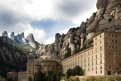 IMG_8199 Benedictine abbey Santa Maria de Montserrat -   - Seen On Explore - 2012-10-30 # 37 (jaro-es) Tags: espaa abbey architecture canon explorer architektur architektura abtei eos450 blinkagain
