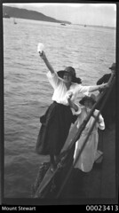 MOUNT STEWART visitors farewell, c 1920