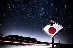 Stop and Stargaze (Bryan Nabong) Tags: sign night time stop lighttrails startrails themes 112for2012
