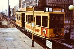 BERLIN 1983 Museumtram (streamer020nl) Tags: berlin u2 2000 market strasse potsdamer tram bier 1983 fleamarket nollendorfplatz museumtram 1000 turkish basar strassenbahn haltestelle flohmarkt westberlin bvg schultheiss 3344 bülowstrasse potsdamerstrasse türkischer