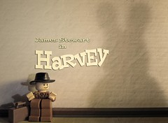Harvey (Leda Kat) Tags: rabbit poster lego harvey movies jamesstewart