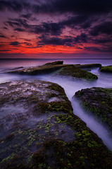 The Mystic Sea (eggysayoga) Tags: nikon d7000 tokina 1116mm lee gnd graduated filter 09 hard pantai lima beach canggu indonesia landscape waterscape seascape sea sun sunset cloudy wave motion longexposure slowspeed ss le mystic