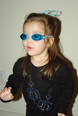 My chanukah show for bubbe & Zaide (Sim-tov) Tags: family portrait girl swim toddler december bc chanukah goggles noa 2012