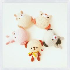 Amigurumi's World (Meemanan) Tags: cute square colorful soft dolls crochet ami squareformat amigurumi adorble crochetdolls iphoneography instagramapp uploaded:by=instagram meemanan