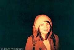 Miss Stewart (Ian DevlinPhoto) Tags: uk red portrait colour film scale girl fashion lady 35mm scotland lomo fuji aberdeen analogue c200 2013 redscale