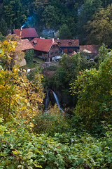 The quiet village (germano manganaro) Tags: river wasserfall fiume croatia waterfalls cascades canon5d mills croazia croacia croatie fleuve hrvatska kroatie cascate kroatien cascadas moulins mulini ef1740 slunj karlovac korana rastoke slunjica