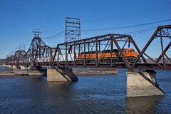 BN Clinton (trainboy03) Tags: santa rock burlington island illinois il fe northern bnsf 2021
