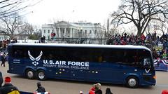 U.S. Air Force at the White House (afagen) Tags: bus washingtondc dc washington whitehouse pennsylvaniaavenue usaf lafayettepark inauguration usairforce lafayettesquare inauguralparade for25