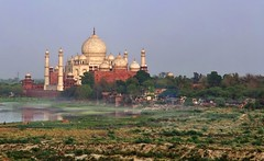 Taj Mahal river mist (Clearvisions) Tags: