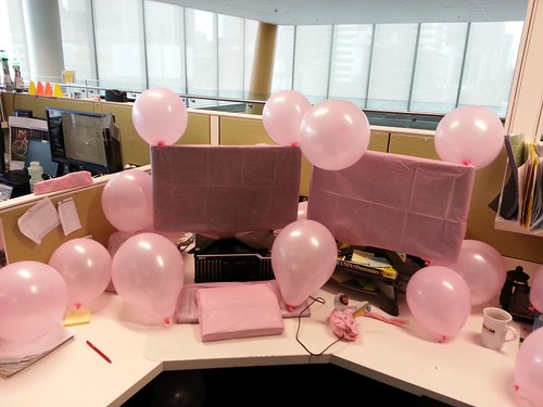 Pink desk - what to do to when a colleague has a baby girl - SGS3