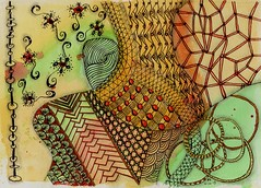 Journal 11 (ronniesz) Tags: art watercolor patterns strings doodles zia penink tangles zentangle
