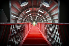 Way to the Light (TJRzurich) Tags: rot art stairs licht brssel atomium ende belgien treppen