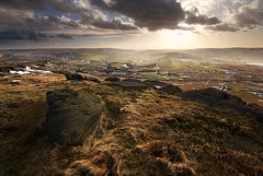 Light Over Saddleworth (andy_AHG) Tags: winter rural outdoors rocks afternoon peakdistrict scenic moors pennines britishcountryside northernengland landscapephotography beautifullandscapes standedge millstoneedge marsdenmoor castleshaws