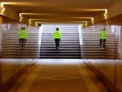 Fitness (meghimeg) Tags: woman reflection stairs donna escalera scala frau riflesso bordighera 2013