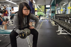 Lifting Some Weights (carmensit13) Tags: life out student working pit bcit carmen journalism fit weights lifting dumbbells
