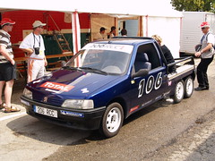 Peugeot 106 6 roues (benoits15) Tags: blue 6 cars up french 206 pickup bleu 106 pick peugeot rcc roues worldcars