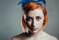 Sophie (Paul Fessey) Tags: camera new light 2 portrait up set hair paul photography ginger nikon girlfriend bandana d800 sb800 fessey