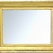110. Antique Gilt Composition Frame with Later Mirror