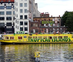 Tropical Islands (michele.tedesco) Tags: travel berlin travelling yellow river germany ships cruising eastside germania openair berlino streetstyle sprea