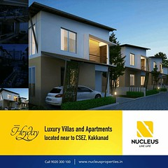 Nucleus Heyday Located near CSEZ at Kakkanad brings you homes with style that is definitely a cut above the rest!  Visit us on www.nucleusproperties.in  #Kerala #Kochi #India #Kottayam #Architecture #Home #Construction #City #Elegance #Environment #Elegan (nucleusproperties) Tags: life city india building home nature beautiful beauty architecture design living construction realestate view apartment interior gorgeous lifestyle style atmosphere kerala villa environment elegant exquisite comfort luxury kochi elegance kottayam