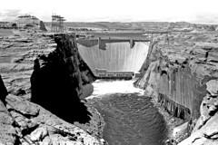 Glenn Canyon Dam (Long time ago) (Rickd248) Tags: elements canon f1 glenn canyon dam