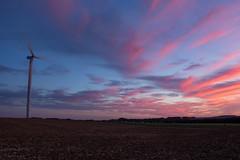 Sunset France (vincent.quennouelle) Tags: sunset wind windturbine sky night landscape soleil soir soire paysage weather