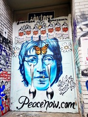 peace now (ekelly80) Tags: newyork newyorkcity nyc august2016 summer walk graffiti art city publicart johnlennon butterflies love peacenow lovespray
