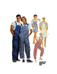 McCalls 7464 Overalls Sewing Pattern (findcraftypatterns) Tags: mccalls7464 adultbiboveralls sewingpattern flyzipper painterpants straps patchpockets sizesmall
