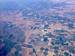 (katlinsilm) Tags: california centralvalley fields agriculture plane birdseyeview pattern