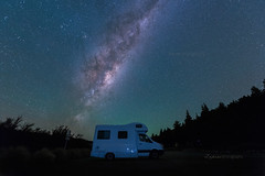 Take a Break .. (zakies) Tags: newzealand autumn milkyway camper motorhome nightscape zakiesphotography mohdzakishamsudin nikond750 travel neverendingjurney hiking milky rest trip tekapo lake camping