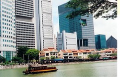 Singapore, Boat Quay along Singapore River from m. muraskin-singapore (m. muraskin) Tags: singaporeriver singapore boatquay