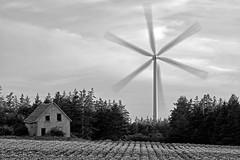 Windmill and abandoned farmhouse, PEI. (Timothy Neesam (GumshoePhotos)) Tags: fuji fujifilm xt1 multipleexposure farm farmhouse windturbine windmill rurex pei princeedwardisland