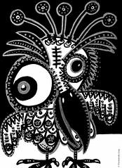 Cor de monstre 09 (Fernando Laq) Tags: monster monstruo monstre dibujo dibuix bn grises