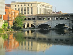 Mirrored aqueduct 2 (DannyAbe) Tags: rochester bridge aqueduct broadstreet eriecanal geneseeriver reflection arches