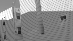 A13355 / shadowed apartments (janeland) Tags: sanfrancisco california 94121 richmonddistrict apartmenthouse architecture shadows desaturated february 2016 madonnaesque loweredcontrast