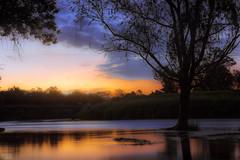 Calma (Agudevani) Tags: sunset sun sol atardecer argentina arboles agua autumn rio river parque park cordoba canon