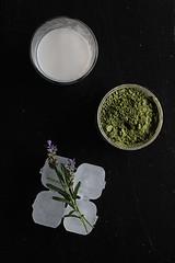 matcha lavender iced latte (Annabelle Orozco) Tags: cultivarium recipes styling food colors breakfast vegan plants matcha iced lavender latte flowers