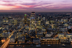 The Pink City... (JH Images.co.uk) Tags: london city night pink sky shard fenchurch skyline cityscape hdr dri walkietalkie natwest tower 42 gherkin clouds sunset capital lights skyscraper skyscrapers