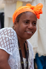 Souvenir seller (danielacon15) Tags: cuba travel outdoors 2016 streetphotography trinidad market seller woman head scarf portrait one person