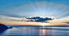Journey of Hope (Simon Downham) Tags: hope journey sea horizon cloud sun flare landscape scape seascape ship boat solo solitude peace peaceful needles theneedles new beginning faith light vision future