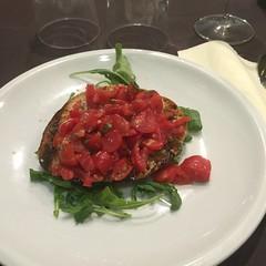 Fantastic bruschetta at Ristorante Almafi - Rome - July 2016 (litlesam1) Tags: italy rome soloromejuly2016 july2016 larry food