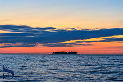 Colorful sunrise skies over Charles Island (Singing With Light) Tags: 2016 28th alpha6000 mirrorless singingwithlight sonya6000 wildermerebeach august photography singingwithlightphotography sony sunrise walnutbeach